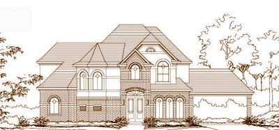 Traditional Style Home Design Plan: 19-1491