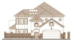 Tuscan Style Home Design Plan: 19-1504