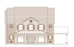 Southern-Colonial Style Home Design Plan: 19-1516