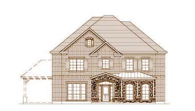 French-country Style Home Design Plan: 19-1519