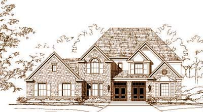 French-country Style House Plans Plan: 19-1525