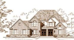 French-Country Style Home Design Plan: 19-1525