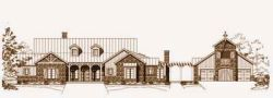 Country Style Home Design Plan: 19-1552