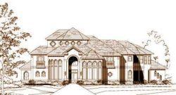 Mediterranean Style Home Design Plan: 19-1557