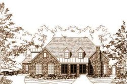 Country Style Home Design Plan: 19-1592