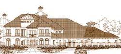 Mediterranean Style Home Design Plan: 19-1595