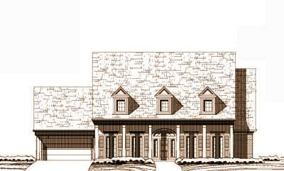 Southern Style Home Design Plan: 19-1602