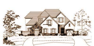 French-country Style Floor Plans Plan: 19-1607