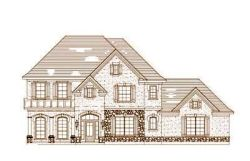 French-Country Style Home Design Plan: 19-162