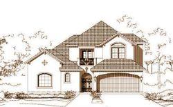 Mediterranean Style Home Design Plan: 19-1625
