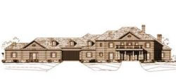 Southern-Colonial Style Home Design Plan: 19-163