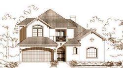 Mediterranean Style Home Design Plan: 19-1634
