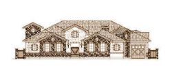 French-Country Style Home Design Plan: 19-1652