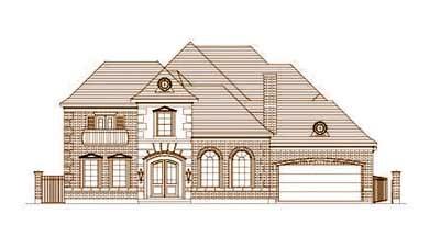 European Style House Plans Plan: 19-1656