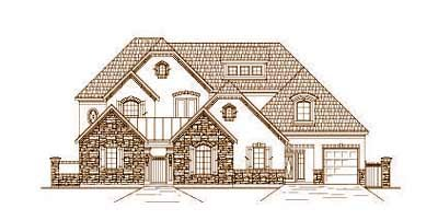 French-country Style Floor Plans Plan: 19-1659
