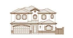 French-Country Style Home Design Plan: 19-1663