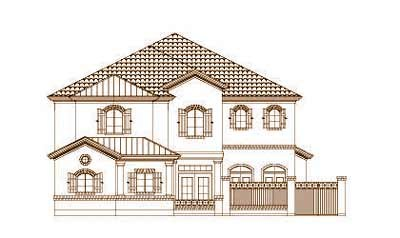 French-country Style Home Design Plan: 19-1675