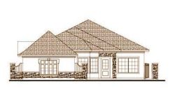 Tuscan Style Home Design Plan: 19-1683