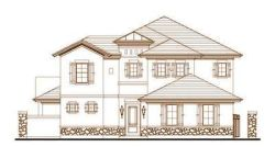 Tuscan Style Home Design Plan: 19-1687