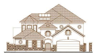 Tuscan Style Home Design Plan: 19-1690