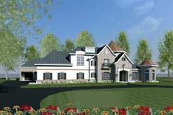 European Style Home Design Plan: 19-1698
