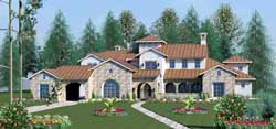 Tuscan Style House Plans Plan: 19-1703