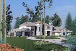 Tuscan Style House Plans Plan: 19-1704