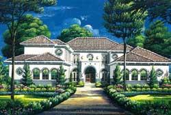 Mediterranean Style House Plans Plan: 19-1750