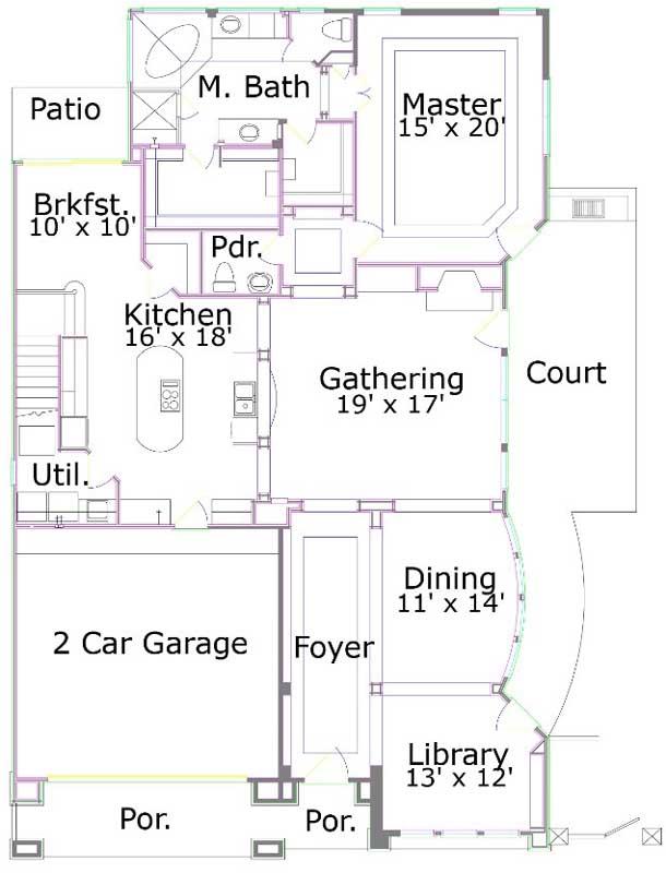Main Floor Plan: 19-1767