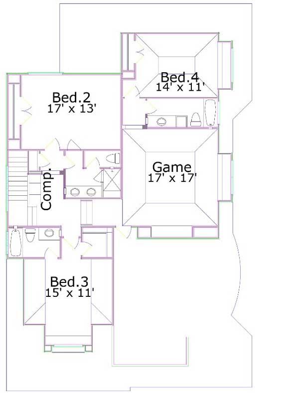 Upper/Second Floor Plan: 19-1767