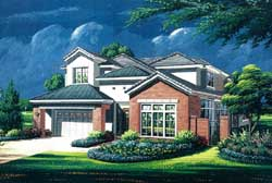 Traditional Style Home Design Plan: 19-1771