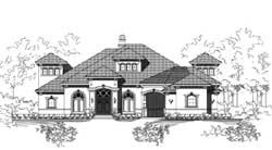 Mediterranean Style House Plans Plan: 19-1801