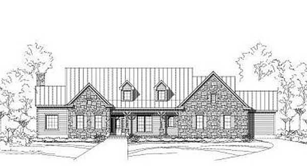 Country Style Home Design Plan: 19-1807