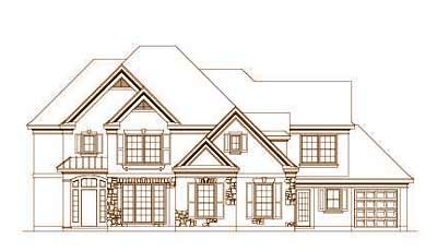 Traditional Style Home Design Plan: 19-181