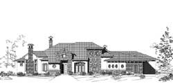 Tuscan Style House Plans Plan: 19-1812