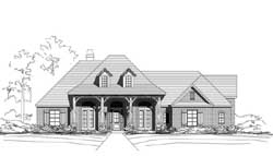 Country Style Home Design Plan: 19-1814