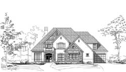 French-Country Style House Plans Plan: 19-1831