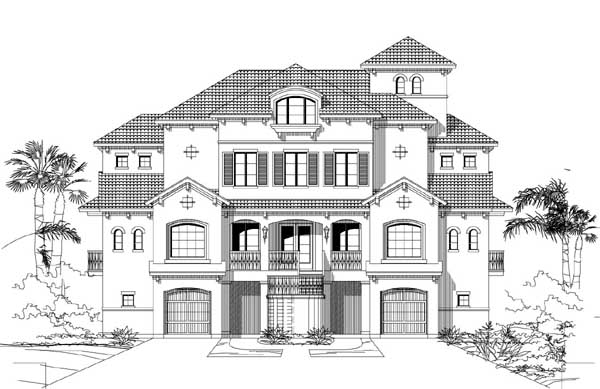 Waterfront Style Home Design Plan: 19-1835