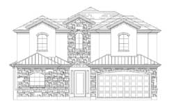 Tuscan Style Home Design Plan: 19-1847