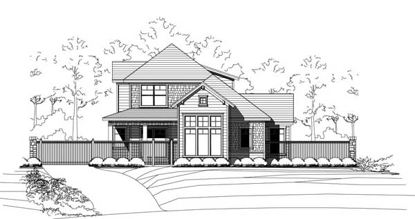 Craftsman Style Home Design Plan: 19-1851