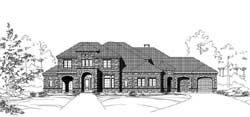 Tuscan Style House Plans Plan: 19-1852