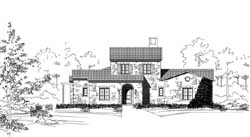 Tuscan Style House Plans Plan: 19-1861