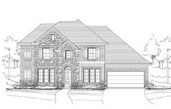 French-Country Style House Plans Plan: 19-1869