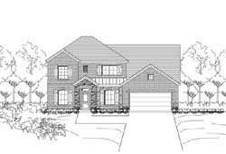French-Country Style Home Design Plan: 19-1872