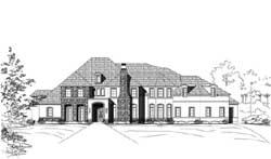 Mediterranean Style Home Design Plan: 19-1881