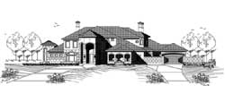 Mediterranean Style House Plans Plan: 19-1882