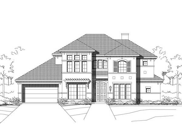 Mediterranean Style Home Design Plan: 19-1883