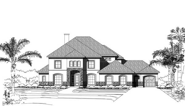 Mediterranean Style House Plans Plan: 19-1884