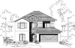 Tuscan Style House Plans Plan: 19-1900