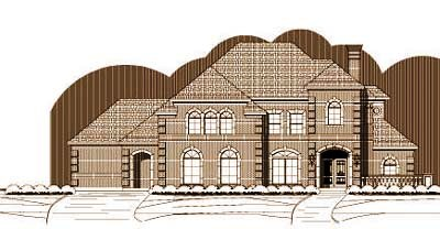 European Style Home Design Plan: 19-200